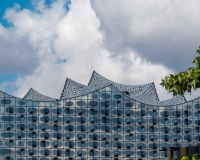 Dach und Fassade der Elbphilharmonie