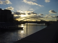Abend über Niederbaumbrücke