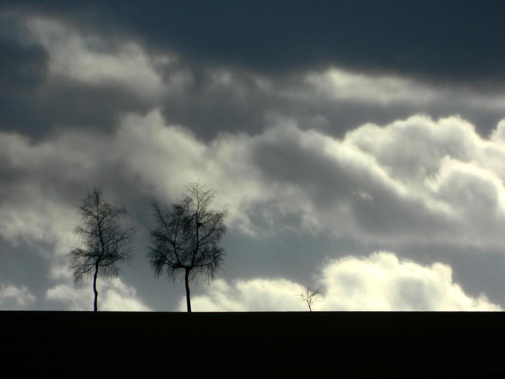 Tag mit Wolken